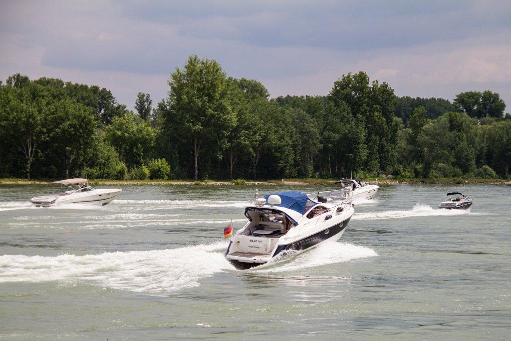 Gruppenausfahrt auf dem Rhein